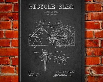 1918 Bicycle Patent Canvas Print, Wall Art, Home Decor, Gift Idea