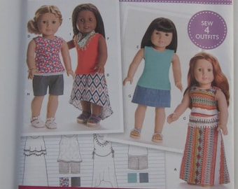 "18"" Doll Clothes Pattern Simplicity #8040"