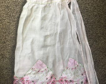 Girls Pink Lace Apron