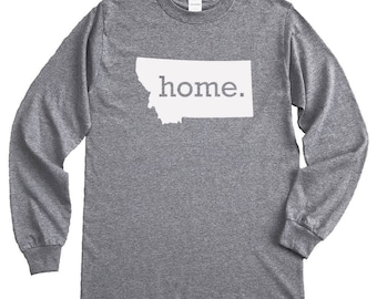 Homeland Tees Montana Home Long Sleeve Shirt
