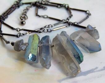Titanium Unicorn Quartz Necklace