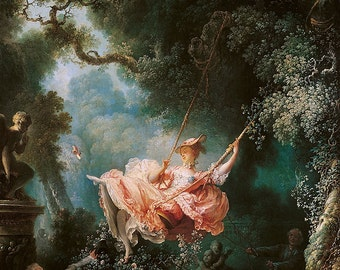 Jean-Honoré Fragonard: The Swing. Fine Art Print/Poster (00472)