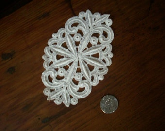 1 Vintage all cotton 1920s antique lace applique