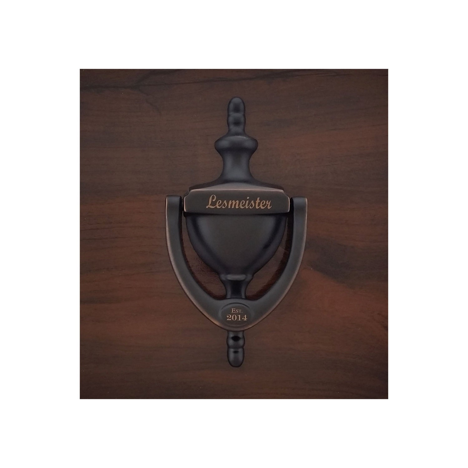 PERSONALIZED DOOR KNOCKER, Engraved, Aged, Venetian Bronze Finish,  Personalized, Gift Boxed, Realtor, Builder