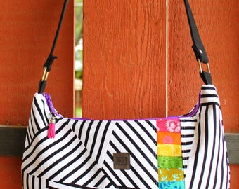 Design Your Own custom made Patchwork Rainbow Melody Hobo Bag   Shoulder Bag   Cross-body Bag   Handbag