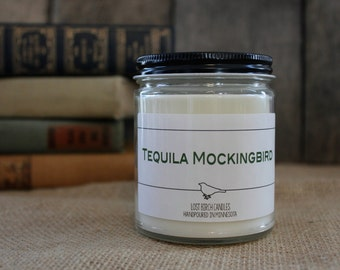 Tequila Mockingbird - Book Inspired Scented Soy Candles -  8oz glass jar