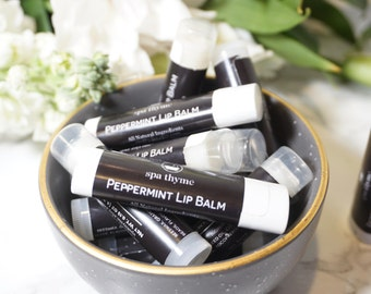 Peppermint Lip Balm | Bath and Body Products | Spa | Lip Care | Chapstick |Stocking stuffer | Wholesale | New Mom Gift | Chapped lips