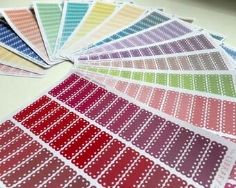 39 Lace Scallop Quarter Box Planner Stickers for Erin Condren, inkwell Press, Happy Planner