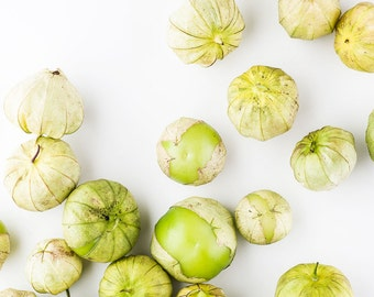 Tomatillo Food Photography, Large Wall Art, Vegetable Fruit Photography, Oversized Art, Home Decor Kitchen Decor Dining Room Decor, Green