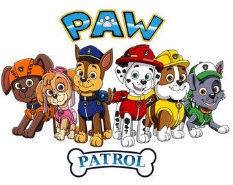 60 PNG-PAW Patrol Clipart Art, Instant Digital Download, scrapbook, Transparent Background Product code # 180515