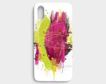 IPhone or Samsung Case  Lime Abstract / Polycarbon / Slim or tough case