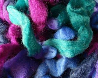 Northern Lights Printed Wool Top - Coral Reef - 4oz