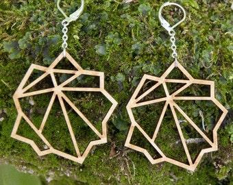 Earrings wooden WOODEARZ planet