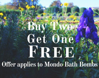Buy 2 MONDO Bath Bombs Get 1 Free! Handmade Artisan Bath Fizzy Homemade Bath Bomb Handcrafted Clearance Bath Fizzies Gift for Her or Him