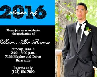 Graduation Custom DIGITAL Invitation, Photo Graduation Invitation, High School Graduation Invitation, College Graduation Invitation