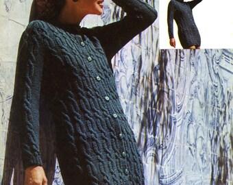 Vintage Ladies Doublet, Knitting Pattern, 1960 (PDF) Pattern, Patons 6415