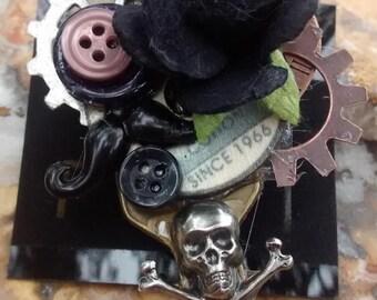 Steampunk, pirate, accessories,fashion pin