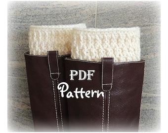 PDF CROCHET PATTERN - Make It Yourself:  Pattern for Lady Kathryn Boot Cuffs, Digital Download, Lots of Photos
