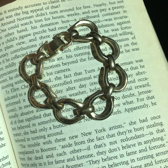 Gold Chain Bracelet | vintage 80s costume jewelry preppy small MINIMAL