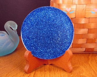 Blue Glitter Handmade Resin Coaster