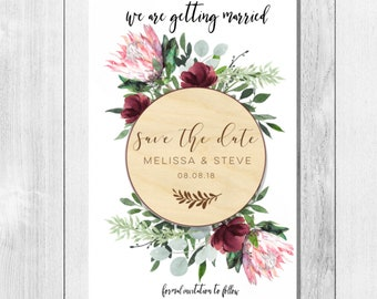 Wooden save the date magnet-Save the Date magnet-Save the Date-engraved save the date-Rustic save the date-Wedding magnet-rustic wedding
