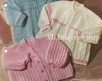 Baby's coats knitting pattern. Instant PDF download!