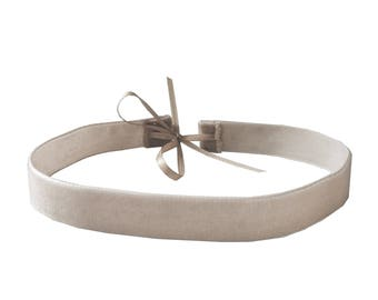 Beige Velvet Choker Necklace - Boho Jewelry - Boho Necklaces - Boho Style - Boho Accessories - Velvet Chokers - Choker Necklaces