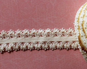pale yellow lace elastic band