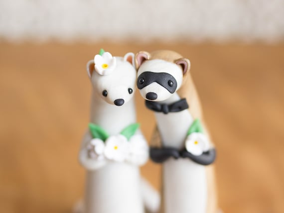 Ferret Wedding Cake Topper