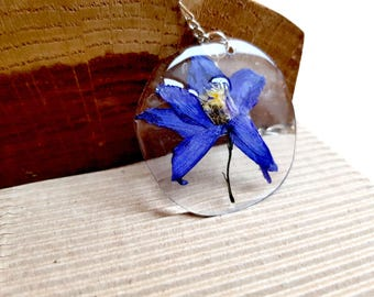 Gift|for|her Real flower Jewelry resin Bohemian real flower jewelry necklace botanical pendant mothers gift|for|sister pressed flower|gift