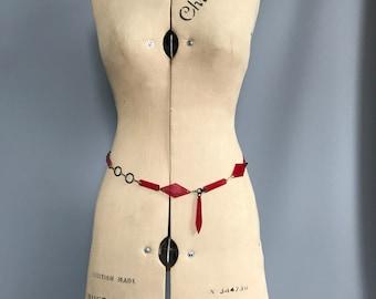 Art Deco 1930s chain belt/ 1920s/ early plastic