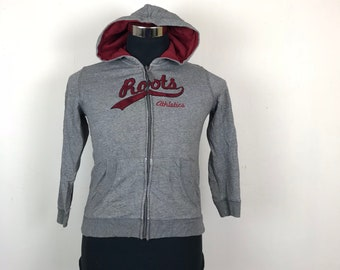 FREE SHIPPING!!! Roots Kids Hoodie Spellout Double Pockets Full Zipper