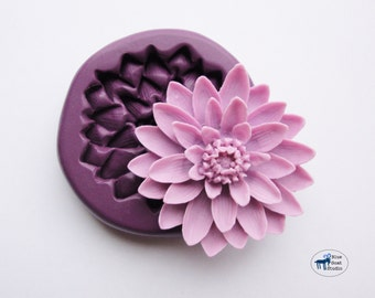 Water Lily Lotus Flower Mold/Mould -  Silicone Molds - Polymer Clay Resin Fondant