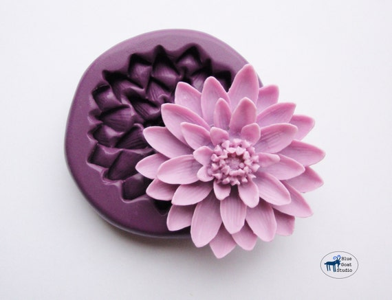Water Lily Lotus Flower Mold Mould Silicone Molds Polymer