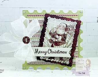 Merry Christmas Santa Small Greeting Card