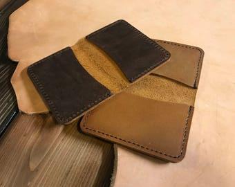 Leather Business Card Wallet | Leather Card Wallet | Handmade Card Holder | Leather Card Case | Minimalist Wallet | Front Pocket Wallet