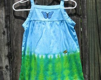 Toddler/Girls sleeveless butterfly dress