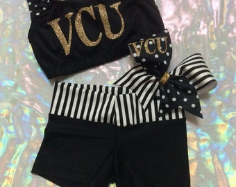 Personalized College Cheer Outfit
