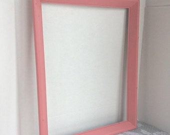 Fathers Day Sale Vintage Wood Picture Frame / Pink Wooden 14 X 18 Frame / Valentine's Day Gift