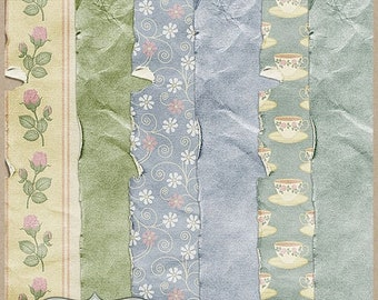 On sale 50% off Time for Tea Worn Papers