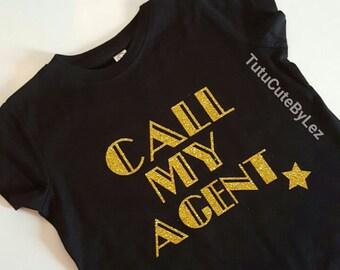 Call My Agent Gold Glitter Shirt