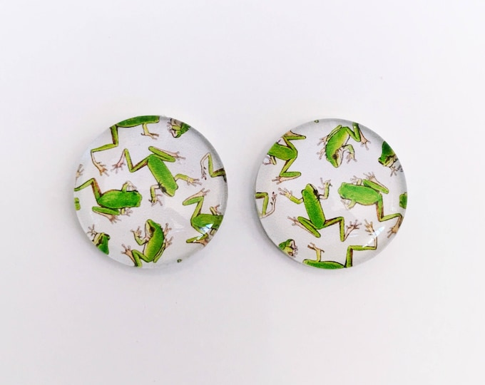 The 'Mini Frogs' Glass Earring Studs