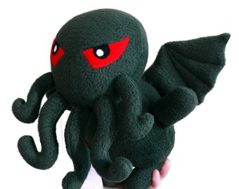 The Call Of Cthulhu. Fleece toy Chibi green. lovecraft