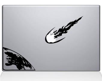 Meteor, Erde Vinyl Aufkleber Aufkleber Platz Universum feurigen Laptop MacBook Zimmer Dekoration