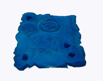The Emerald Tablet in blue cthulhu prop