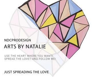 Spread the love! Digital hearts