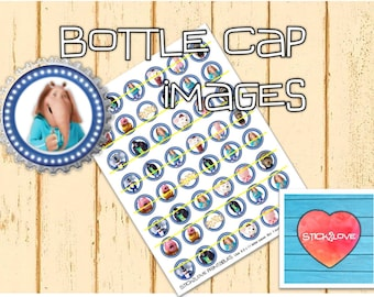 "Sing printables 1"" circles, bottle cap images, stickers"