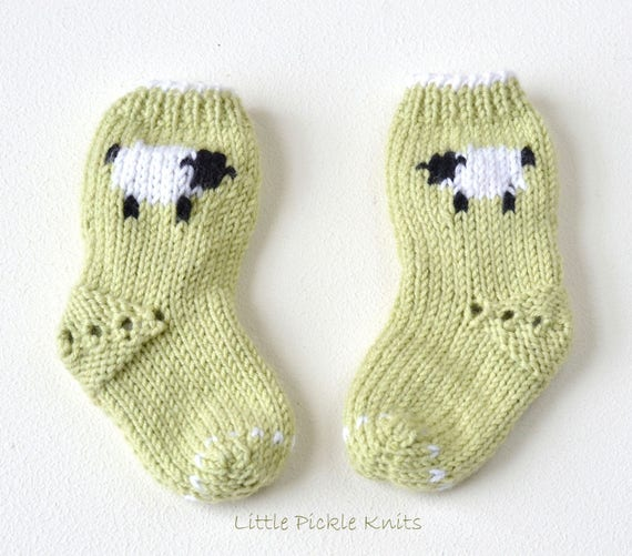 Easy Baby Socks Pdf Pattern Little Baa Baa