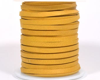 "1/8"" Deerskin Lace - Mustard - 3MF-DS22 - Choose Your Length"