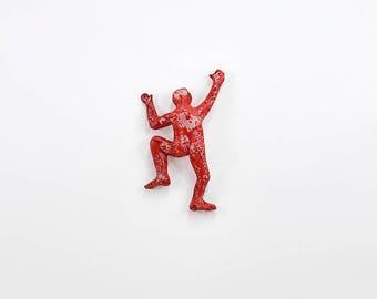 Wall decor, Metal wall art, Miniature Climbing man, rock climbing, Contemporary art, wall decor, 3d wall art